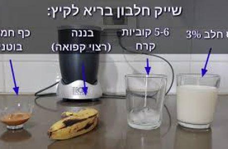 שייק חלבון כתחליף לארוחה בריאה